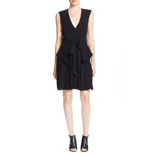 L'AGENCE • black ruffled dress